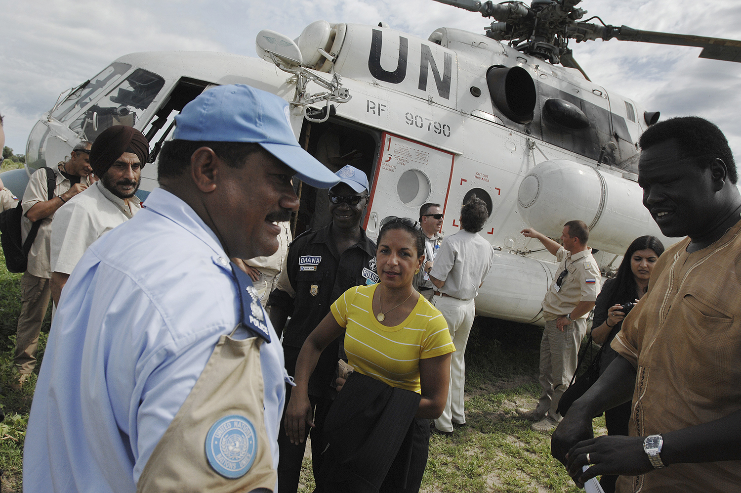Susan Rice, then U.S. ambassador to the United Nations, visits the village of Malau in South Sudan on May 24, 2011.