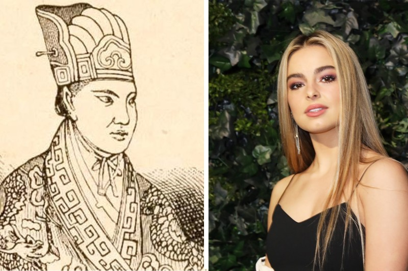 19th-century Chinese rebel Hong Xiuquan and social media influencer Addison Rae.