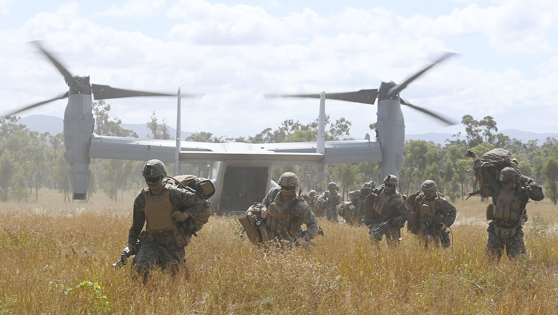 U.S. Marines participate in a military exercise in Australia.