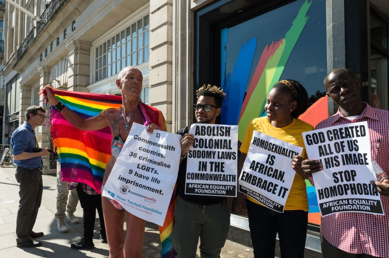 Activists protest LGBTQ discrimination in the Commonwealth.