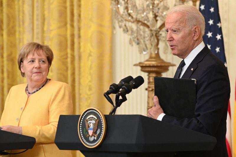 Merkel and Biden at the White House