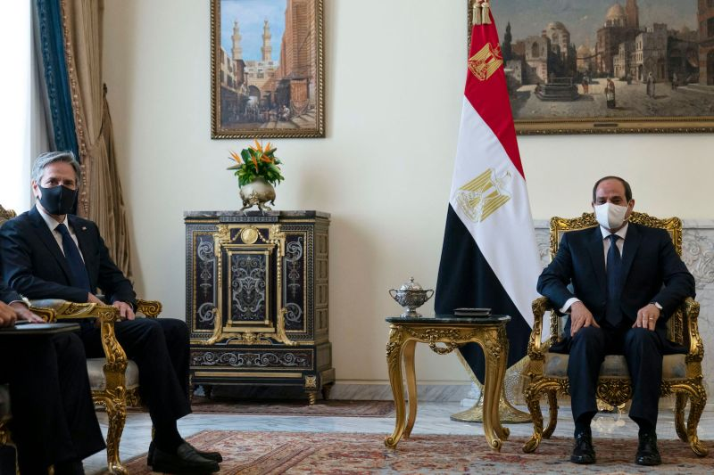 U.S. Secretary of State meets with Egyptian president.