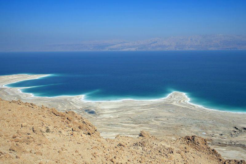 The Dead Sea shoreline is receding.