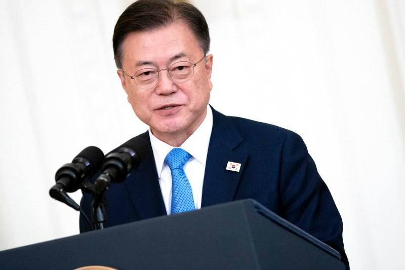 The South Korean president speaks at the White House.