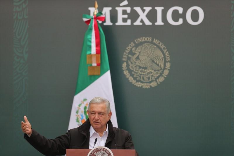 López Obrador speaks in Mexico City