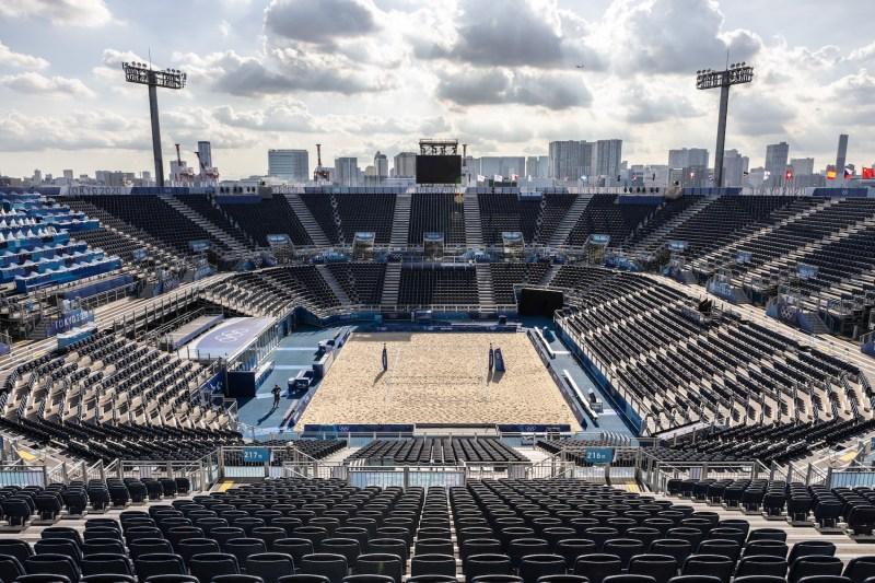 The 2020 Olympics beach volleyball stadium