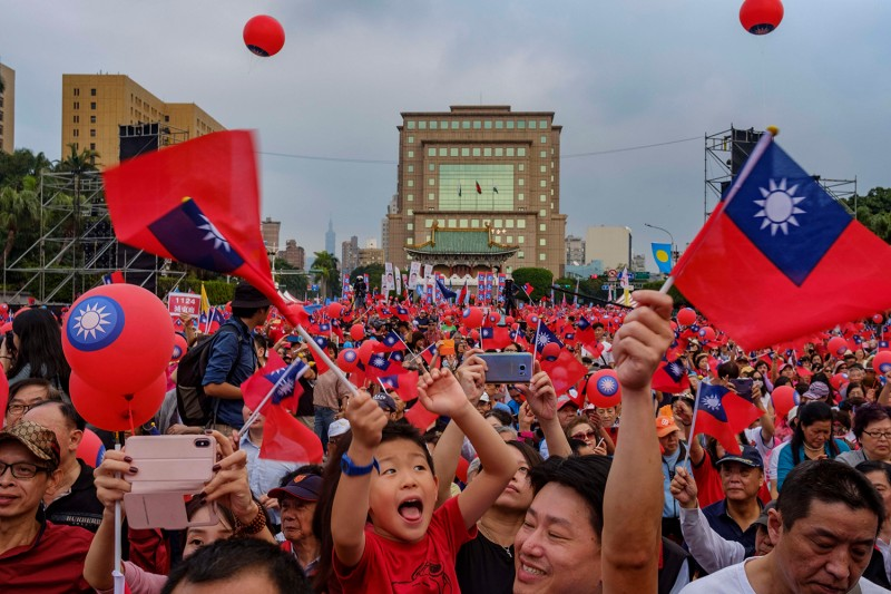 KMT supporters rally in Taipei