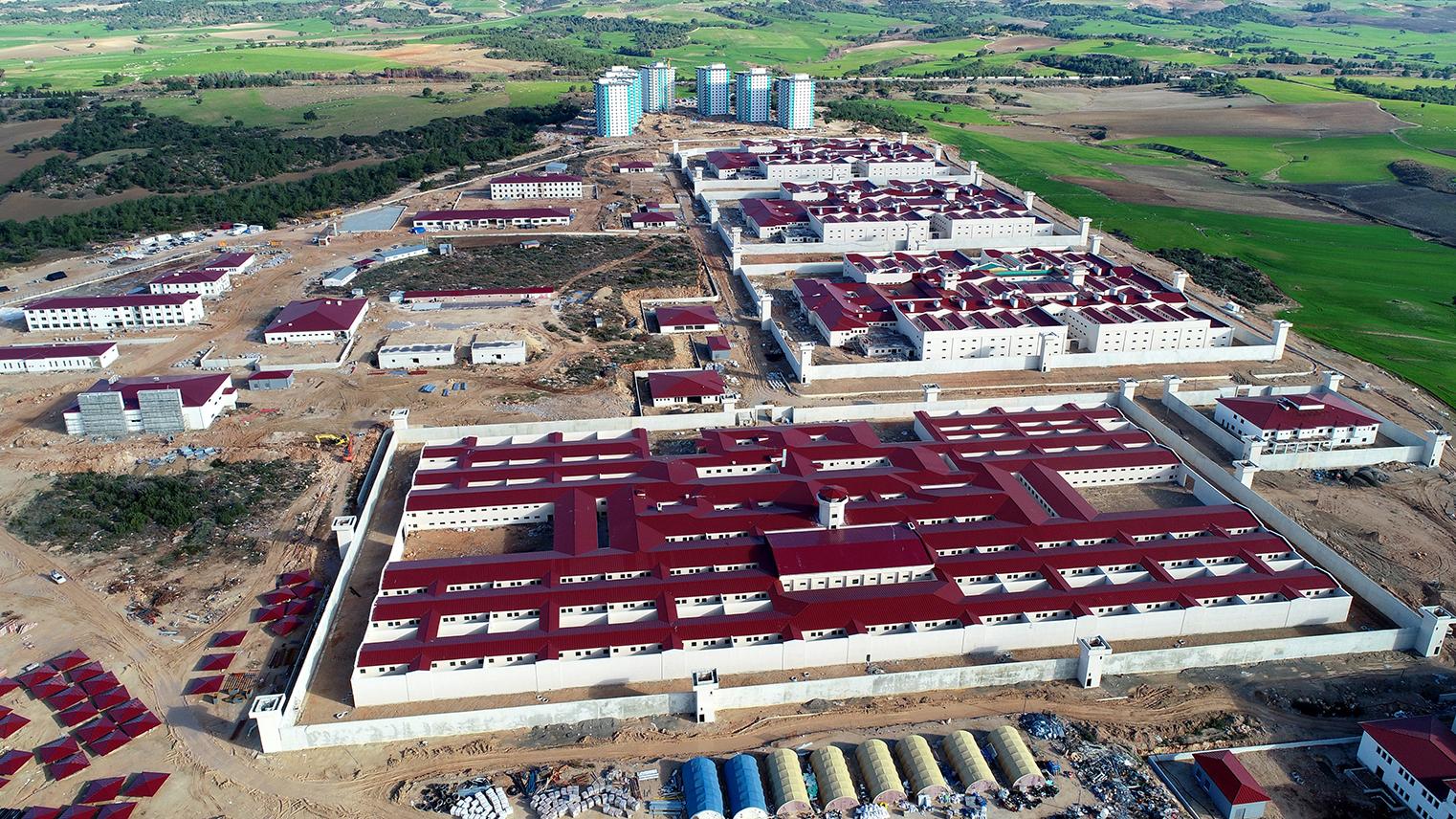 A construction site for a Turkish prison complex