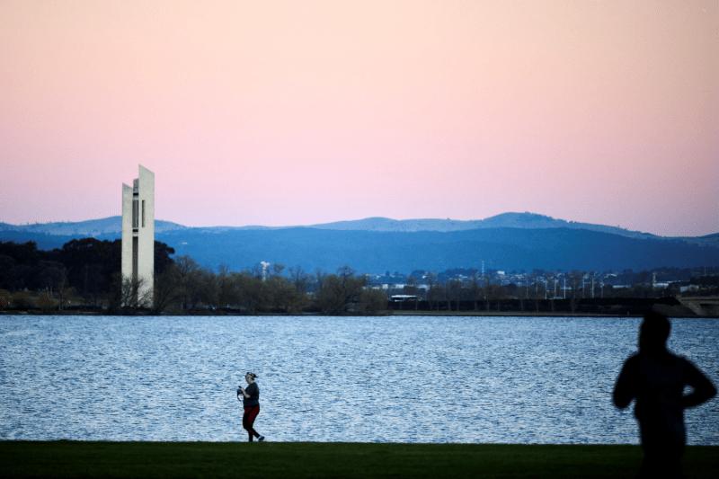 Residents walk in Australia.