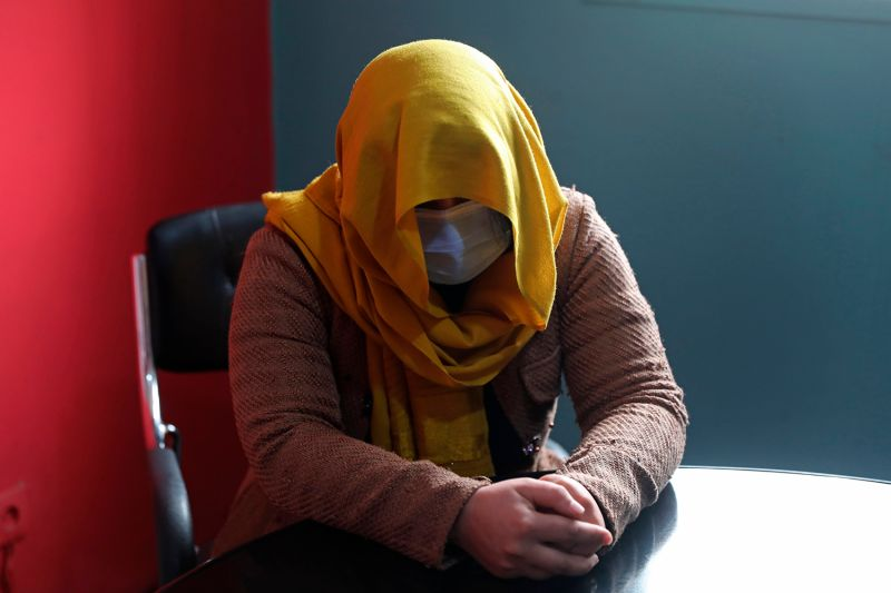 A female TV presenter from southern Afghanistan