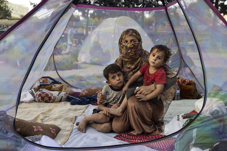 Afghan refugees in Kabul