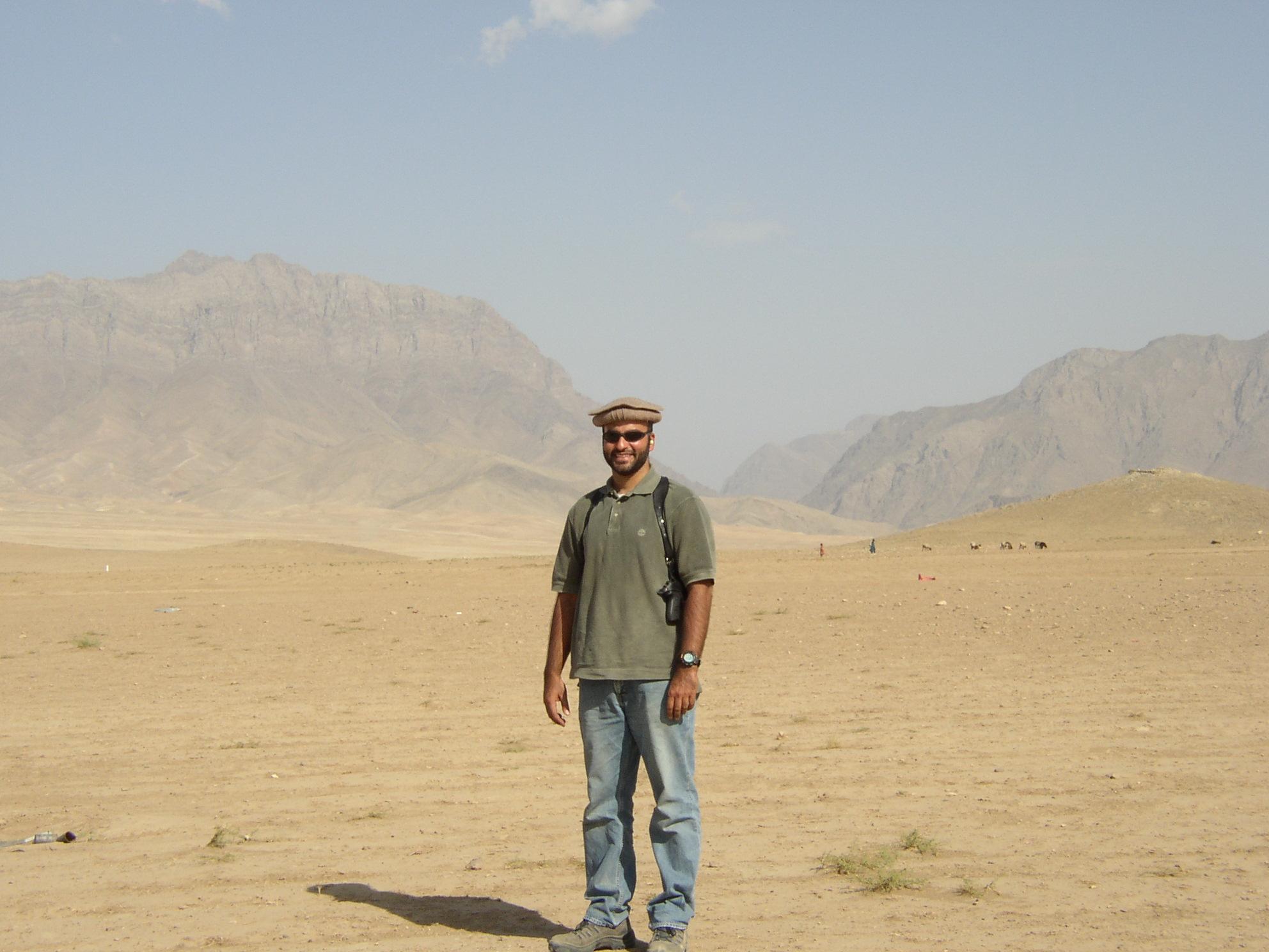Homayun Yaqub near the Kabul Military Training Center