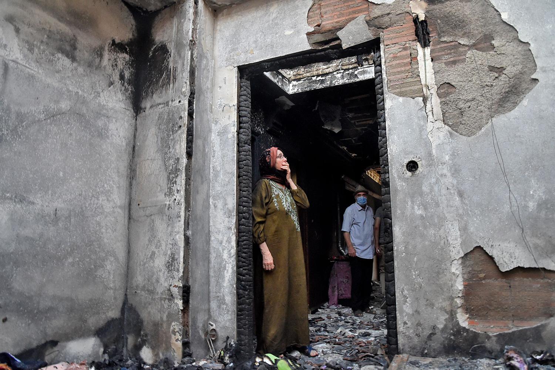Algerian fire damage