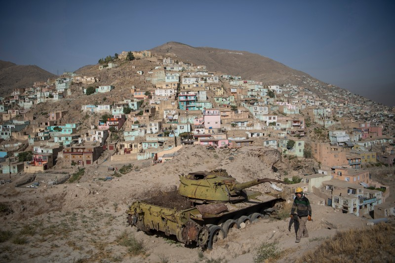 The Bala Hissar historical compound in Kabul