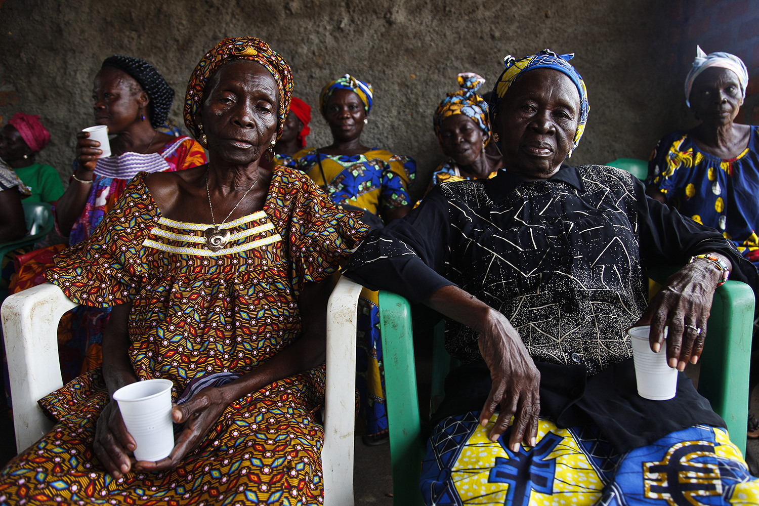 Members of a women's support group