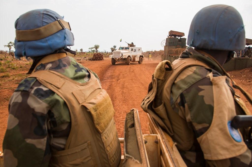 Peacekeepers go on patrol