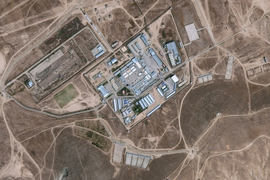 Satellite photo of Cobalt prison in Afghanistan
