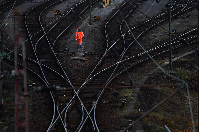 Rail tracks in Germany