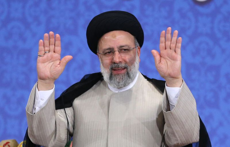 Iranian president-elect attends his first press conference.