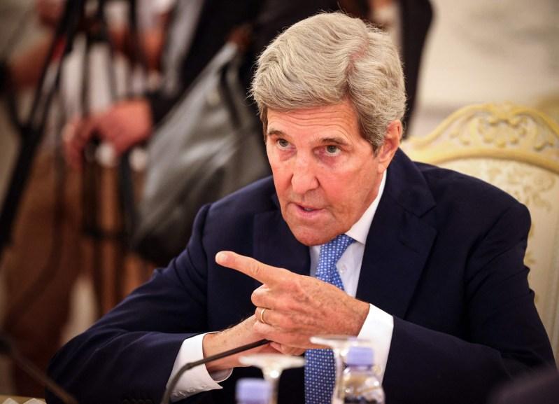 U.S. climate envoy John Kerry speaks in Russia.