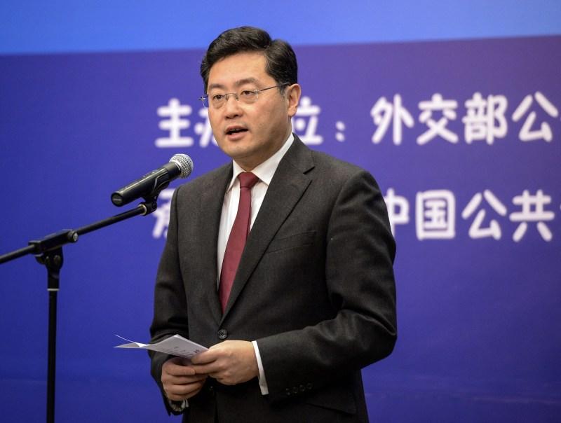 Qin Gang speaks in Beijing.