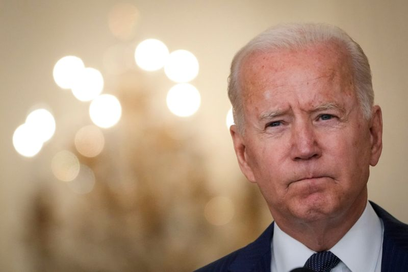U.S. President Joe Biden speaks about the situation in Afghanistan in the East Room of the White House on August 26, 2021 in Washington, DC.