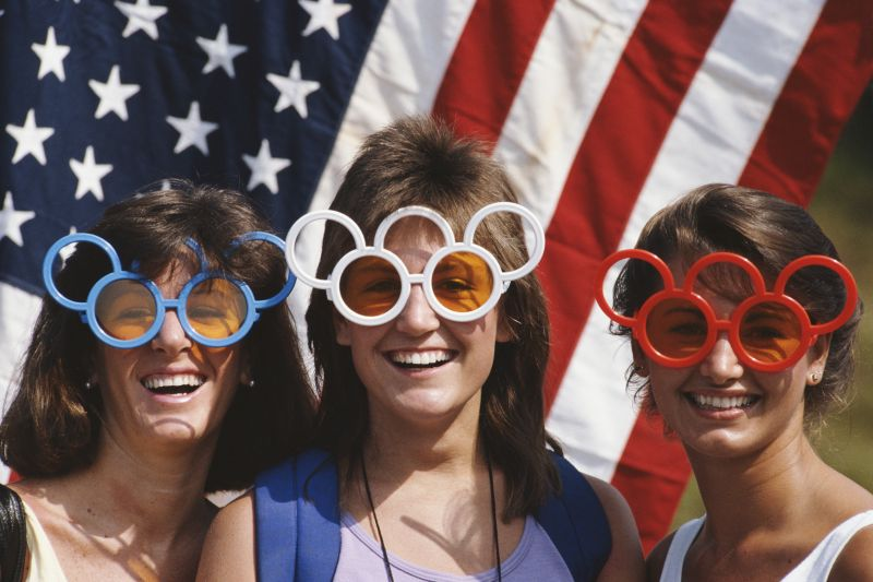 U.S. fans watch the Olympics.