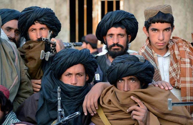 Afghan Taliban fighters at Bakwah in the western province of Farah on Nov. 3, 2015.