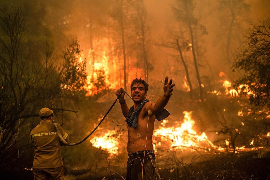 Forest fire in Greece