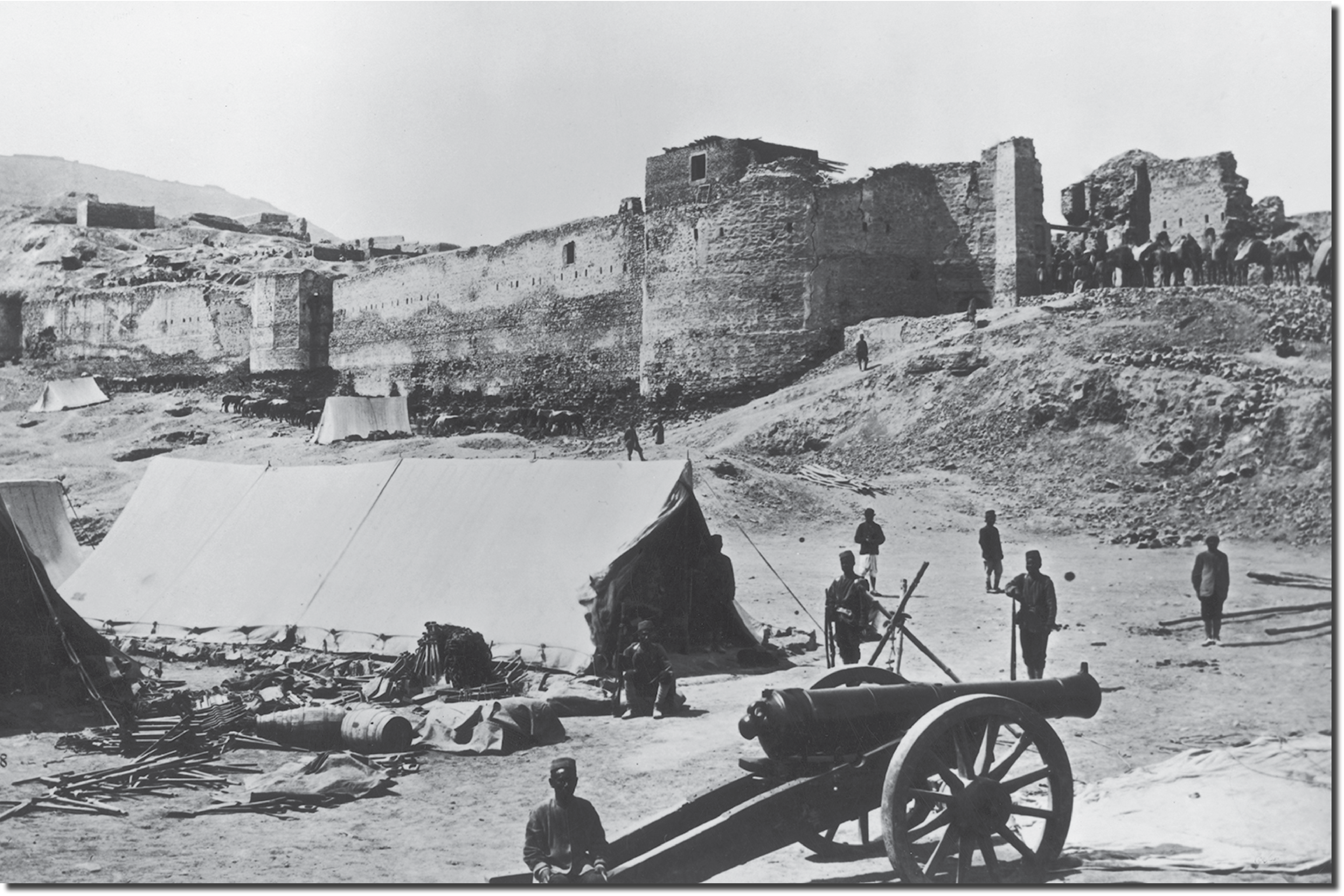 The upper part of the Bala Hissar in 1879.