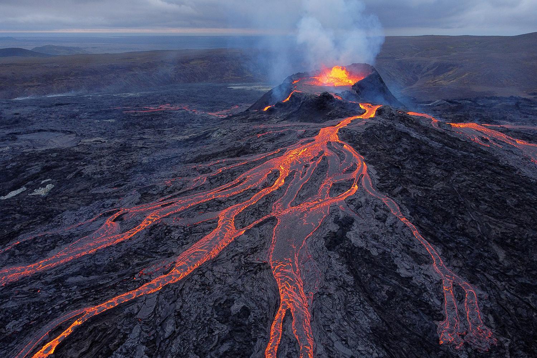 Lava at Iceland volcano