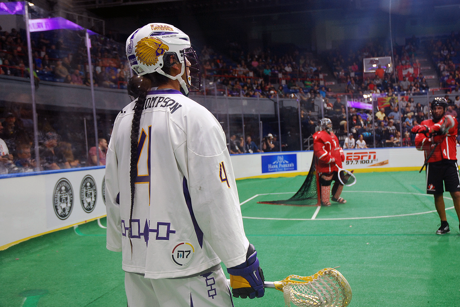 Lyle Thompson of the Iroquois Nationals