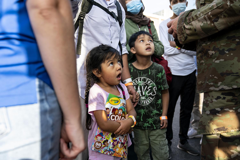 Afghan refugee children
