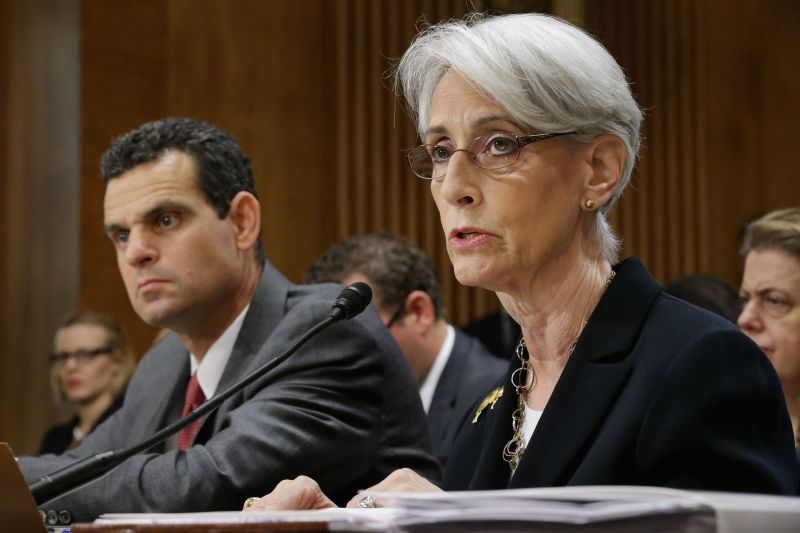 Then-Undersecretary of State for Political Affairs Wendy Sherman testifies before the Senate.