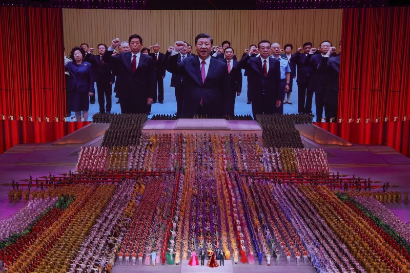 The CCP's 100th anniversary is celebrated.