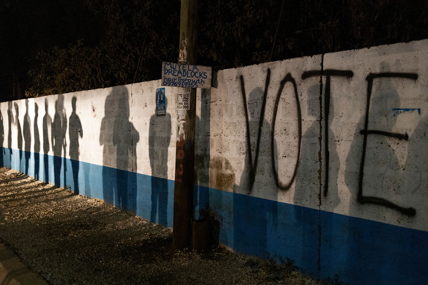 Polling station in Zambia