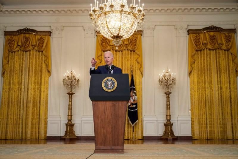 U.S. President Joe Biden speaks about the situation in Afghanistan.