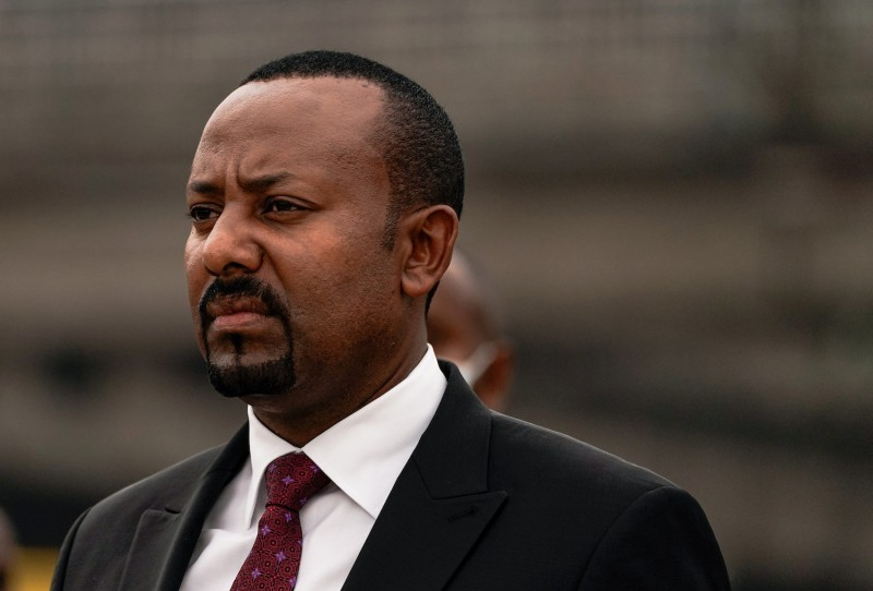 Ethiopia's prime minister attends the Meskel Square remodeling.