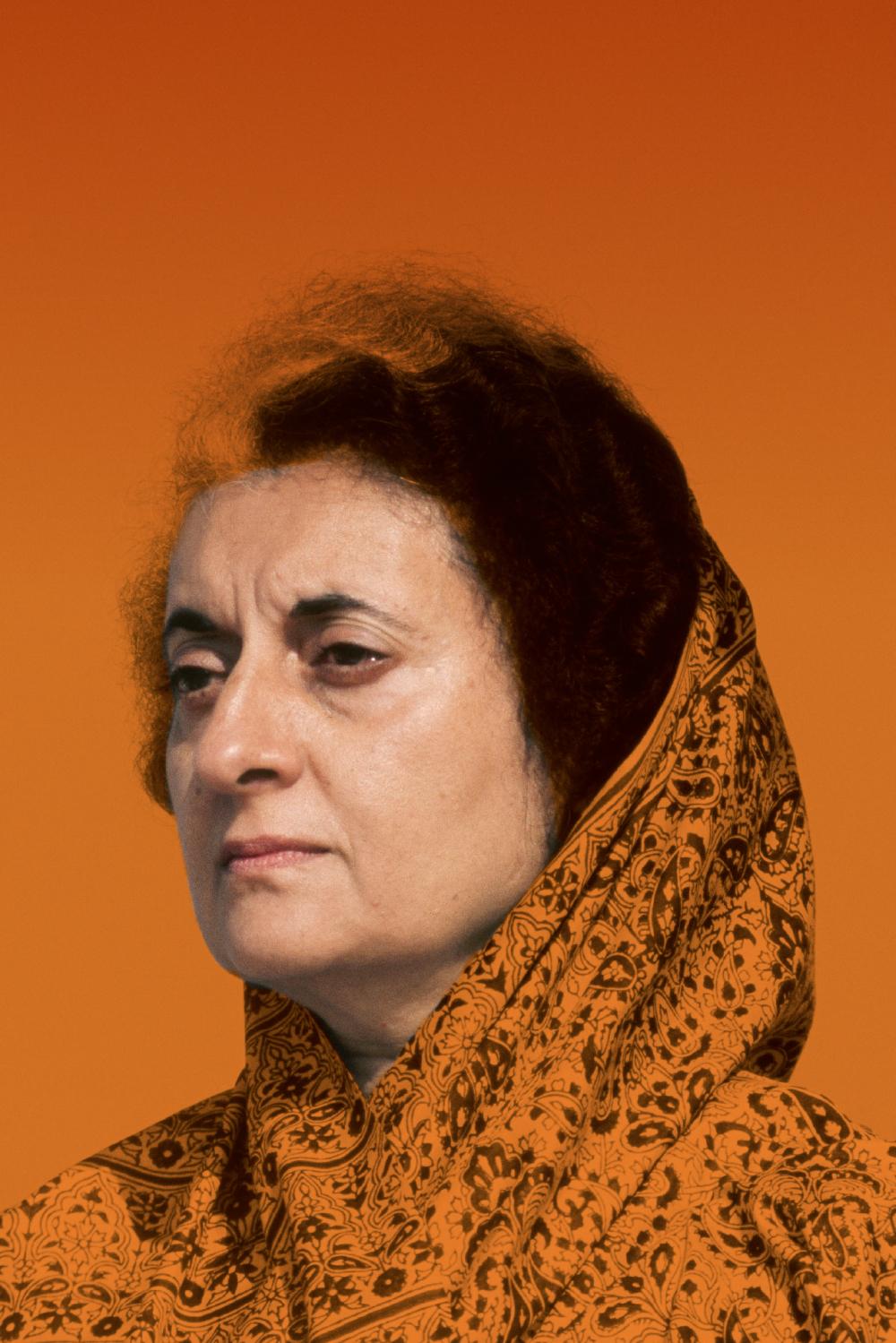 Indira Gandhi in a portrait from 1976.