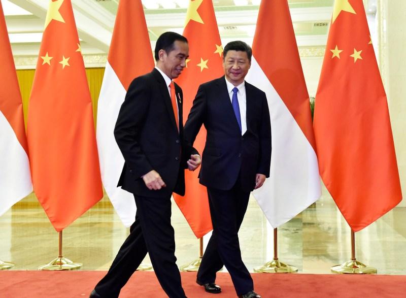 Indonesia's Widodo and China's Xi in Beijing