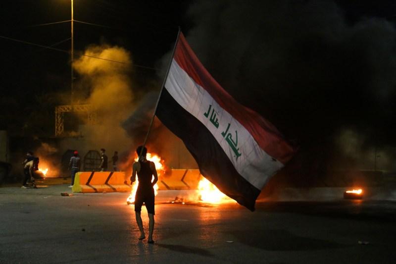 Protest in Karbala, Iraq.