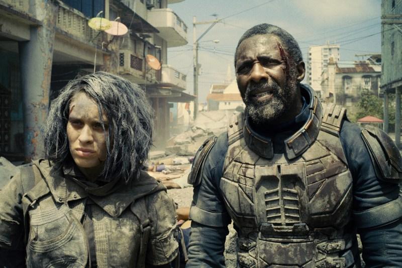 Daniela Melchior as Ratcatcher 2 and Idris Elba as Bloodsport
