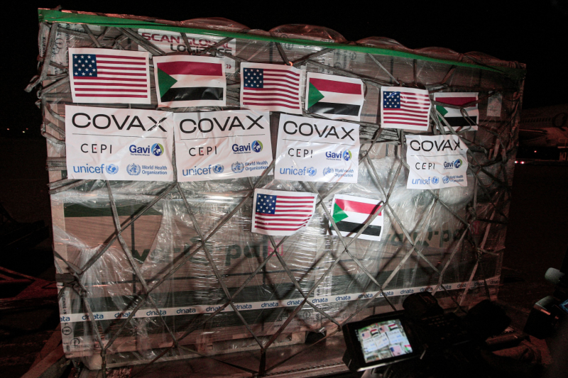A shipment of vaccines provided for Sudan