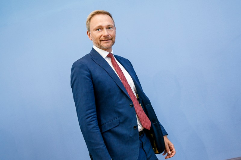 Christian Lindner, head of the Free Democratic Party (FDP) arrives for a press conference the day after elections in the eastern German states of Brandenburg and Saxony on September 2, 2019 in Berlin.