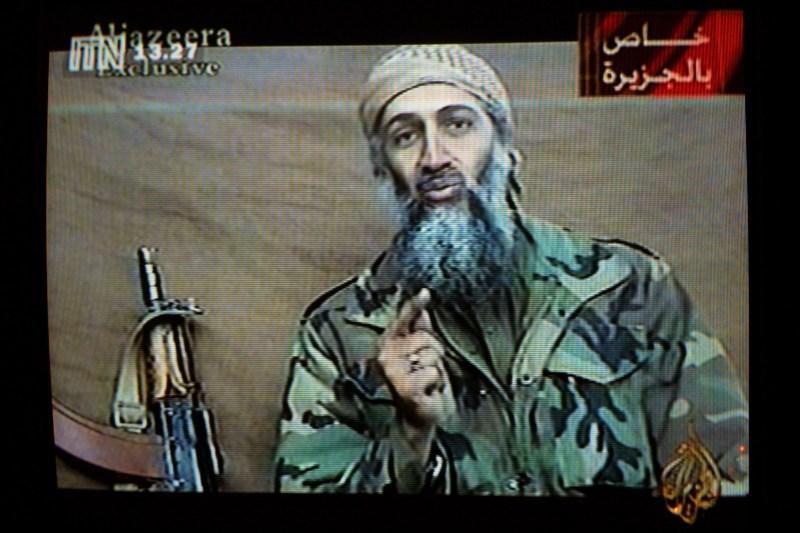 A videotape of Osama bin Laden is broadcast.