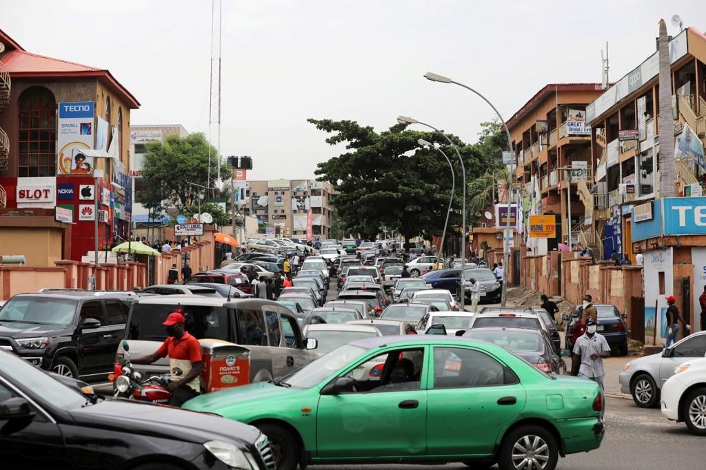 Traffic gridlock in Abuja, Nigeria