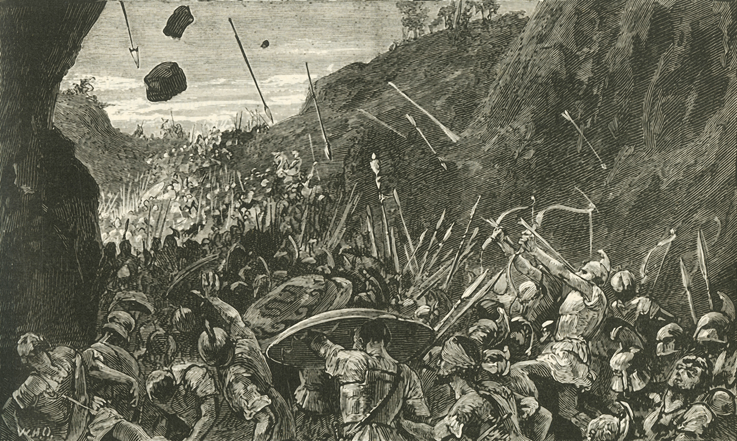 The retreat of the Athenians from Syracuse in the Peloponnesian War