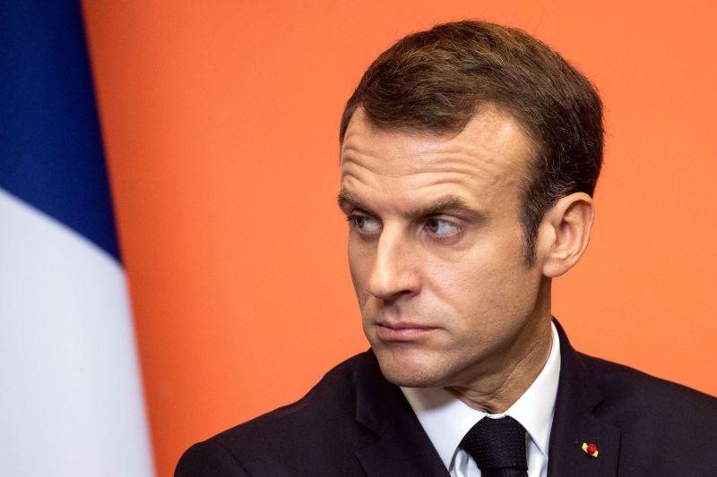 French President Emmanuel Macron delivers a speech in Lens, France on Nov. 9, 2018.