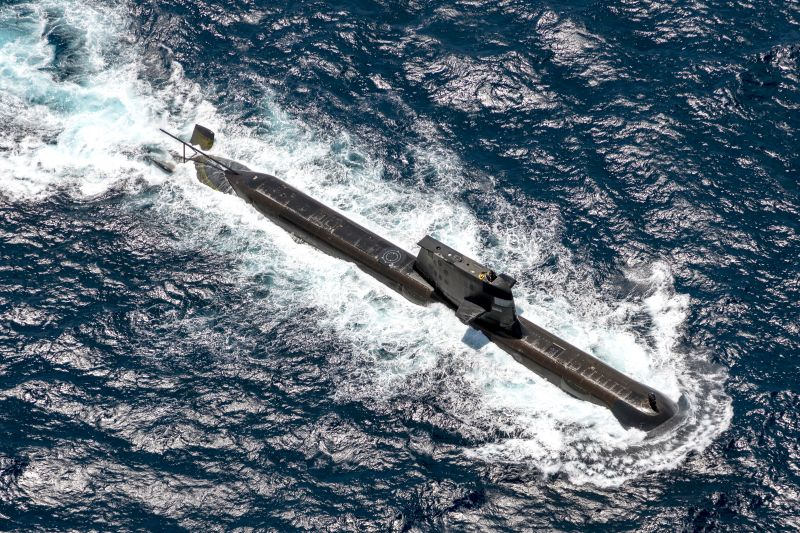 The Royal Australian Navy submarine HMAS Ranki
