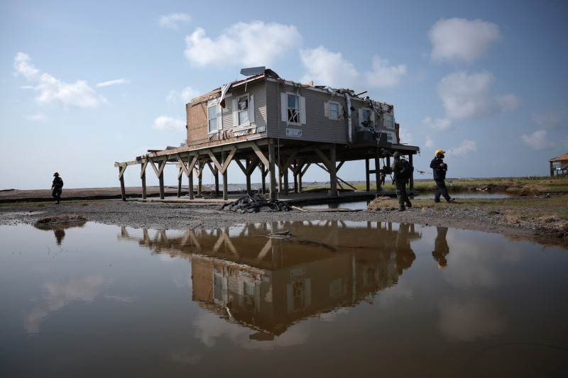 A home in the aftermath of Hurricane Ida in Louisiana